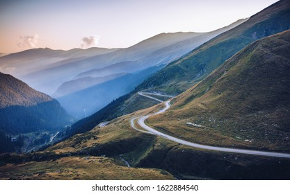 Transfagarasan pass in summer. Crossing Carpathian mountains in Romania, Transfagarasan is one of the most spectacular mountain roads in the world.
