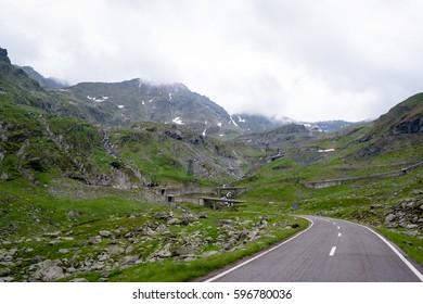 transfagarasan road in romanian mountains