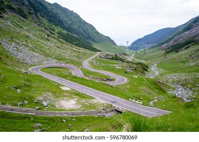 transfagarasan road in romanian mountains