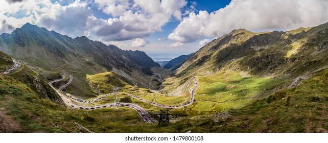 Transfagarasan road views in Eastern Europe Romania
