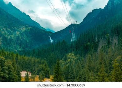 Transfagarasan valley in Carpathian mountains Roumania