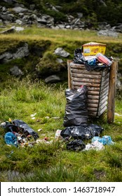 Transfagarasan/Romania - July 07,2018 - Trash left by tourists on the most beautiful road in the world according to Top Gear presenter Jeremy Clarkson