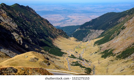 Transfagarasean road in the moutains of Romania