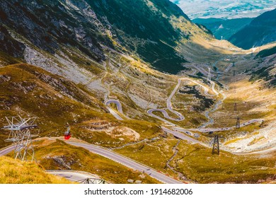 Transfagarasean, view of the best road in Romania