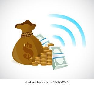 transferring money concept illustration design over a white background