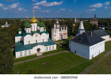 Transfiguration Cathedral, the bell tower and the Church of the assumption in St. Euthymius monastery in Suzdal.