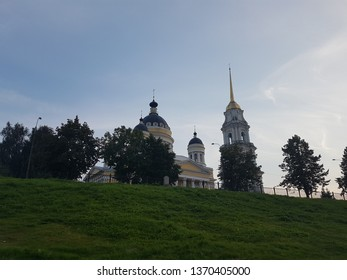 Transfiguration Cathedral on a sunny July morning. Rybinsk, Russia.