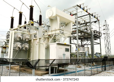 Transformer : The equipment used to raise or lower voltage, high voltage power station