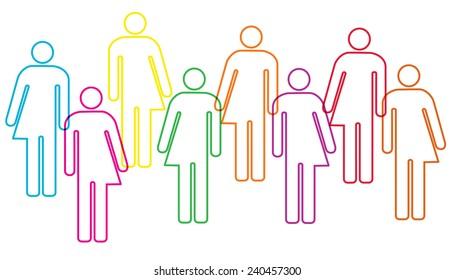 A trans-gender diversity banner illustration