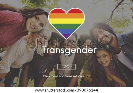 Transgender Equality Freedom Rainbow Symbol Concept