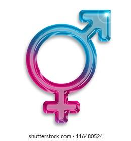 transgender identity symbol isolated on white background