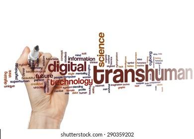 Transhuman word cloud concept
