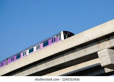 transit authority (MRTA) or MRT Purple Line Bang Yai-Tao Poon station.