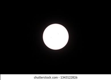 transit of mercury across the sun, with sunspots