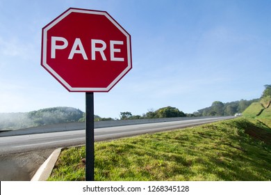 Transit sign plate - Red plate stop PARE
