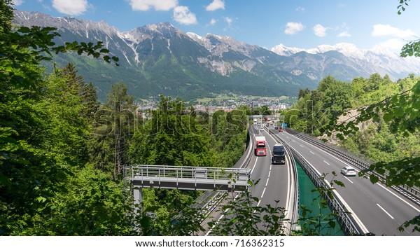 Transit traffic over the Brenner