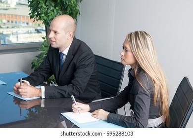 Translator with an Asian businesswoman