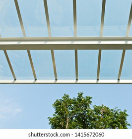 translucent glass roof awning skylight