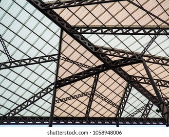 Translucent roof background.
