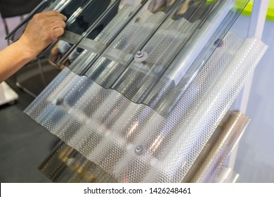 Translucent roof tile.For the patio area that needs light to pass through.