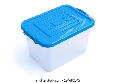 translucent storage box with clipping path