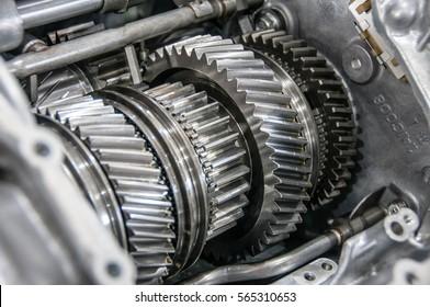 transmission gears closeup close-up detail