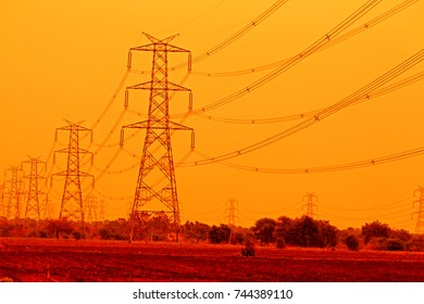 Transmission line tower in India