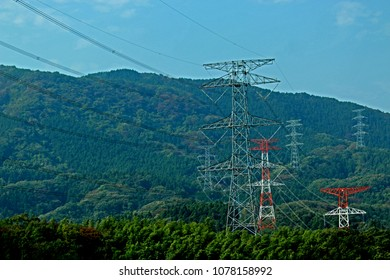 Transmission line tower in Japan