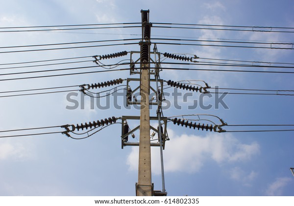 Transmission Lines Air Break Switch Abs Stock Photo (Edit Now) 614802335