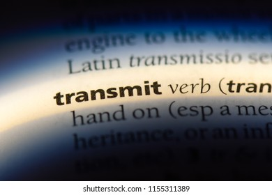 transmit word in a dictionary. transmit concept.