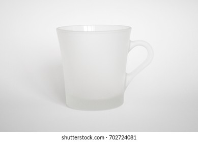 Transparency mug on white background