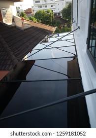 Transparent acrylic roof