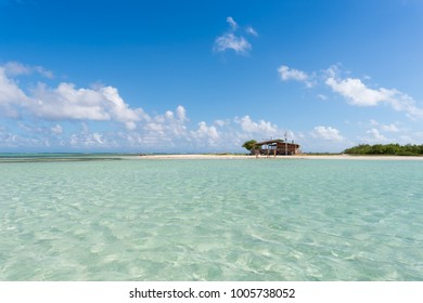 Transparent, beautiful water at Los roques archipelago, one of the most famous tourist destinations in Venezuela