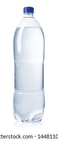 Transparent bottle of still water isolated on white background