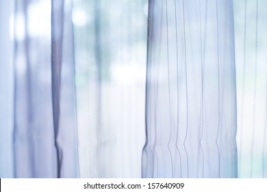 Transparent curtain on window. Curtain background