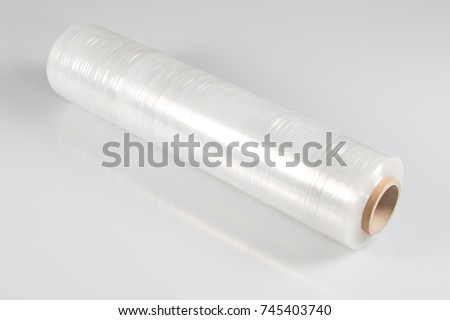 0fe9029ec55 Transparent Film Roll Wrapping Packaging On Stock Photo (Edit Now ...