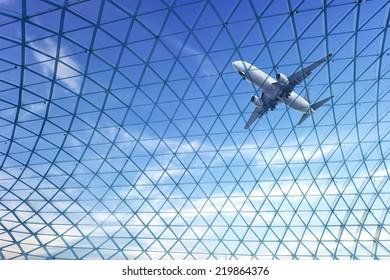 Transparent glass ceiling