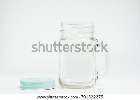 Transparent Glass Jar Open Lid Separate Stock Photo (Edit