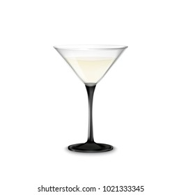 Transparent glass with Martini for dark and light background