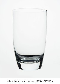 transparent glass on white background