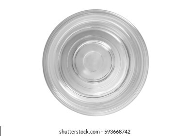 Transparent glass of pure mineral water isolated on white