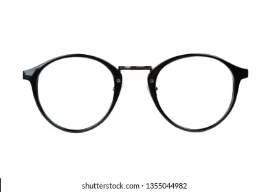 Transparent glasses for correction of sight isolated on white background