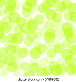 transparent green dots