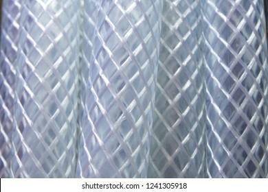 transparent hose close up
