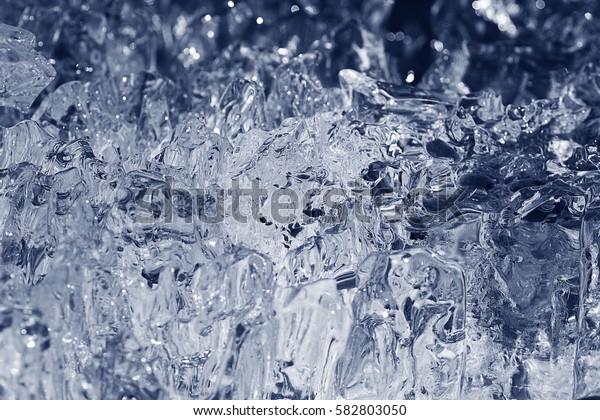 transparent ice background