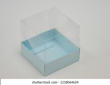 Transparent lid acetate box model with many color options and patterned box