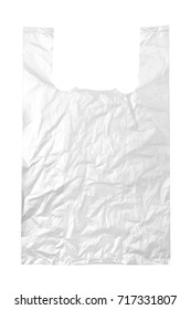 Transparent plastic bag isolated on white background