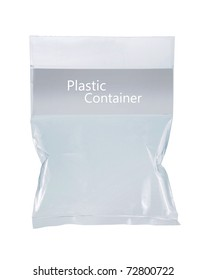 transparent plastic pack. isolated over white background