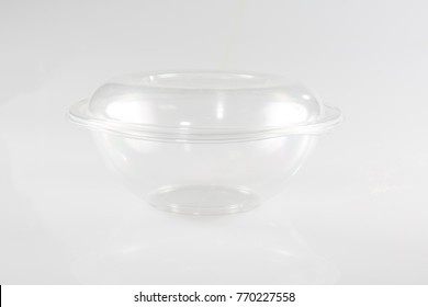 a transparent plastic packaging with lid