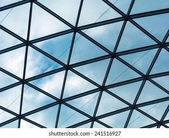 transparent roof and clouds